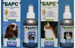 Спрей барс от блох для кошек и собак: инструкция и отзывы