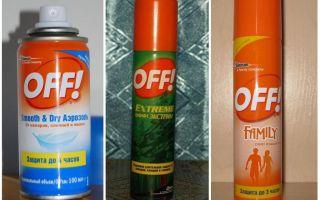 Спрей офф от комаров